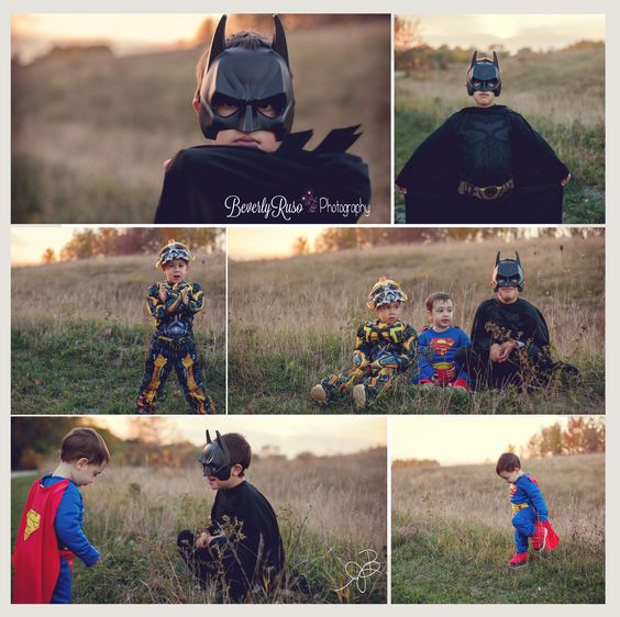 Halloween Photoshoot. Superhero's saving the world for Halloween Batman, Superman, the Bumblebee. www.beverlyrusophotography.com https://www.facebook.com/beverlyrusophoto