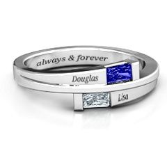 Double Baguette Bypass Ring #jewlr