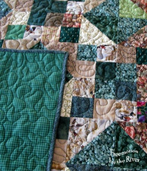 Closeup of quilting at Freemotion by the River