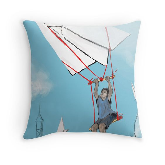 """GLIDER !"" Throw Pillows by RKJackson 