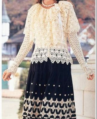 Crochet: Top, jacket and stole.
