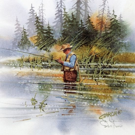 Fly fishing fishing and painting gallery on pinterest for Fly fishing art