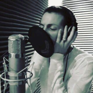 Throwback to Chester in the studio working on earlier album. lp