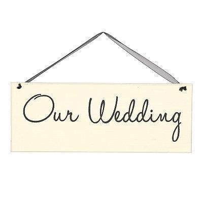 Our Wedding Wall Sign $5 @ Kirklands in stores