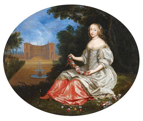 Anne Lucie de La Mothe-Houdancourt, Marquise de La Vieuville (1647-1689). Maîtresse du roi Louis XIV.