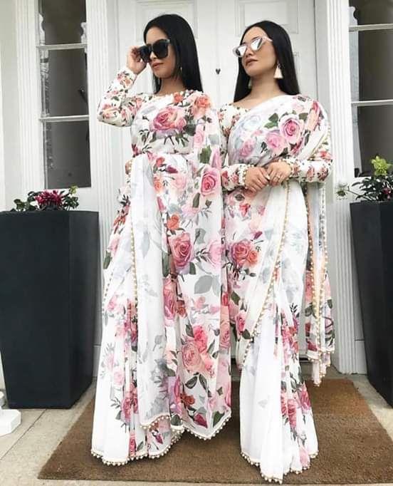 Neha Kakkar Amazing Floral Looks Designer Saree With Blouse Lace Saree Saree Designs Fancy Sarees