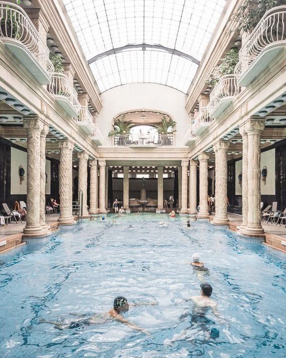 The indoor pool at Gellert Baths - Budapest Travel Guide