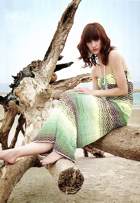 #MMissoni #M4Summer | Chevron Inlay Long Dress | Summer 2014 Collection | @no way Claire Malaysia