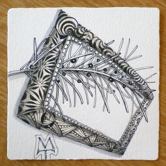 Zentangle a frame and frames on pinterest