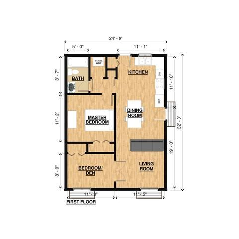Prefab Homes Kit Home 2br 1ba 768 Sq Ft Domela 24x32 Modern House Kits Prefab Homes Framing Kit Bryanbaeumler Greente Prefab Home Kits Prefab Homes Kit Homes