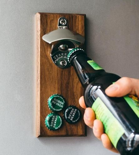 Magnetic porter bottle opener wall mount magnetic bottle opener and magnets - Bottle opener wall mount magnet ...
