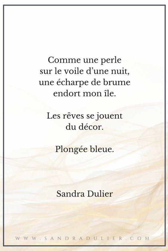 Comme une perle sur le voile de la nuit - poésie - citation - automne - Sandra Dulier
