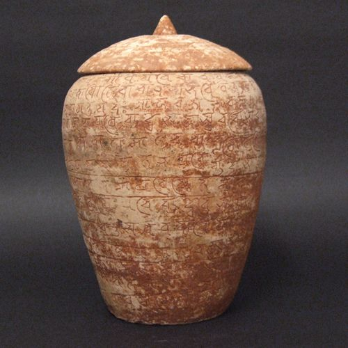 An Unusual Yuan Pottery Jar and Cover from Yunnan Province. The Body Extensively Inscribed with a Non-Chinese Script. The Inscribed Characters were Added When the Clay was Wet, -chineseceramicslondon.com