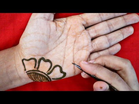 front hand simple mehndi designs for palm only