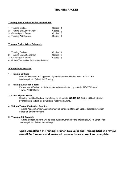 Training Evaluation Form Templates  Diy
