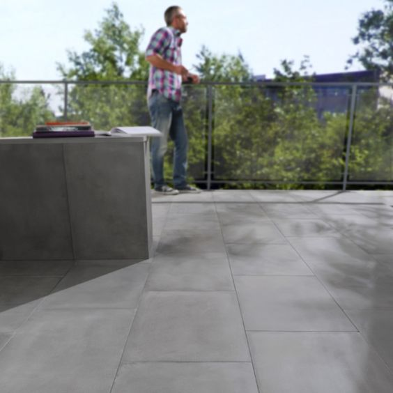 Dalles béton Castorama , achat sol en béton pas cher, promo Dalle aspect béton ciré 60 x 40 cm prix promo Castorama 52.08 €/m2 TTC