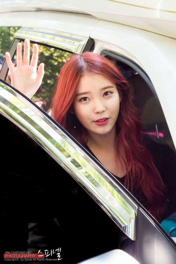 IU Red Hair