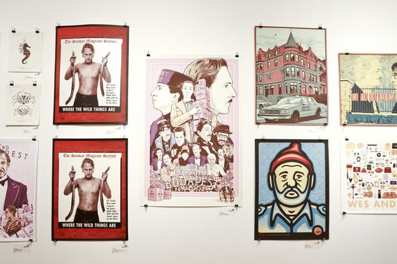 Inside The Completely Sold Out Wes Anderson Art Show: Gothamist