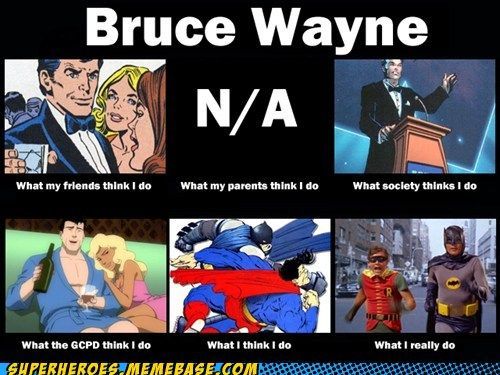 What Bruce Wayne does