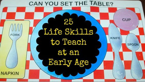 25 Life Skills to Teach at an Early Age