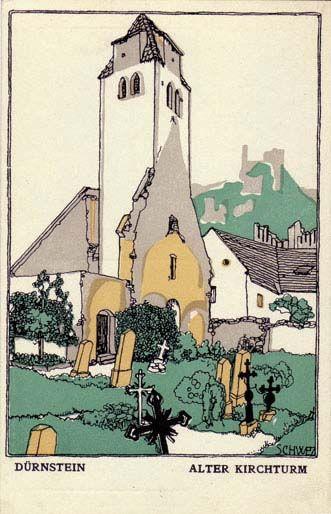 720. Karl Schwetz - Wiener Werkstatte postcard