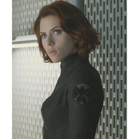 Scarlett Johansson as Black Widow in new Avengers trailer ❤ liked on Polyvore