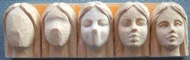 Step by step face carving....