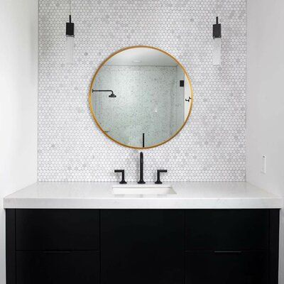Wall Mounted Vanity Bathroom, What Size Round Mirror For A 48 Vanity