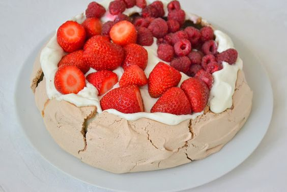 Cocoa and Red Fruits Pavlova