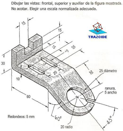 Ejercicios De Vistas 983 Trazoide Tecnicas De Dibujo Ejercicios De Dibujo Dibujo Tecnico Ejercicios