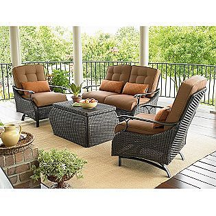 Wicker furniture and boys on pinterest for Outdoor furniture austin