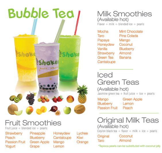 "Bubble teas - just recently tried a bubbly strawberry black tea for the first time. You have to get used to the tapioca ""bubbles"" but it's fun!"