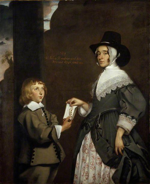 Hester Tradescant and her Stepson, John, Thomas de Critz, 1645: