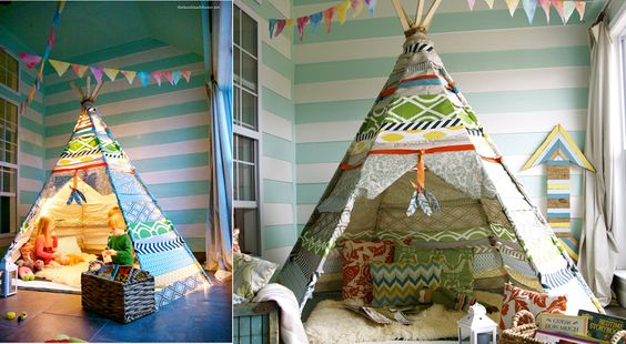 comment fabriquer un tipi facilement pour les enfants bricolage pinterest comment et. Black Bedroom Furniture Sets. Home Design Ideas