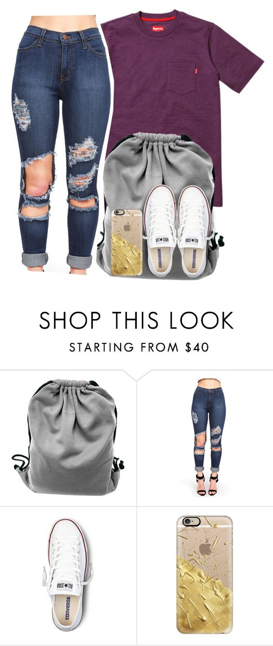 """""""Simple..."""" by g0ldenchicaa ❤ liked on Polyvore featuring Converse and Casetify"""