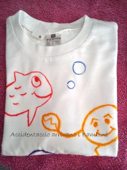 Il Pesciolino Gabriele e una nuova maglietta disegnata