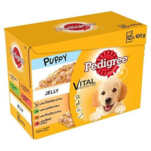 Pedigree Puppy Pouches Meat In Jelly 12 X 100g Wet Dog Food Dog