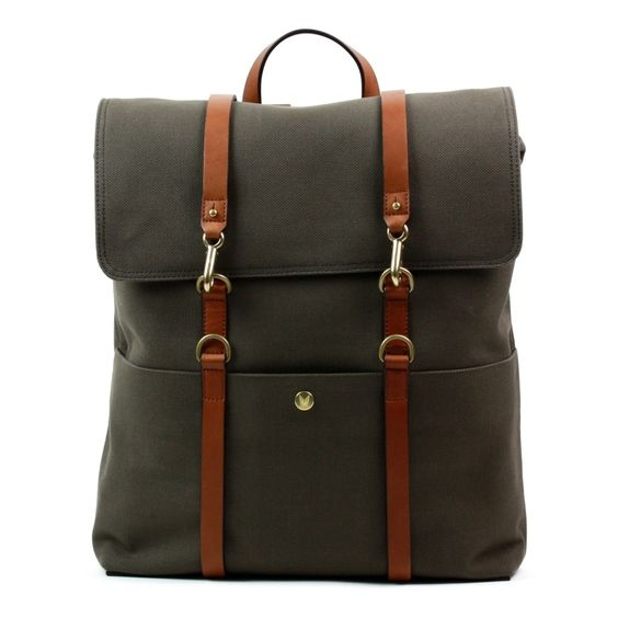 Mismo Backpack Army Green/Cuoio