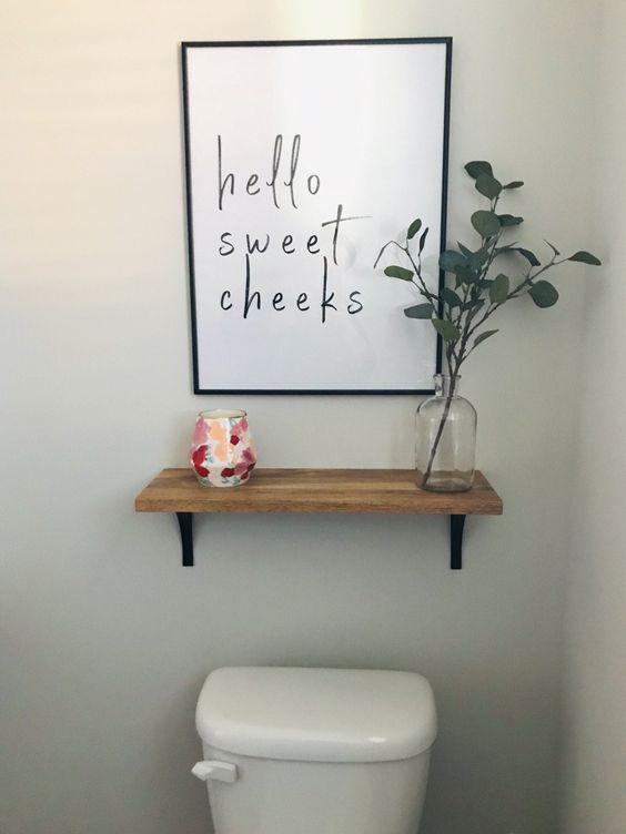 Adorable digital print for a bathroom. Found it on Etsy for under $5. And looks cheeky cute