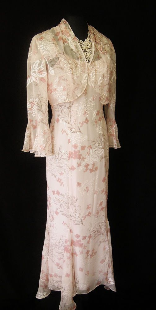 COTERIE Wedding Outfit Size 10 Pink Dress and Jacket Suit Ladies