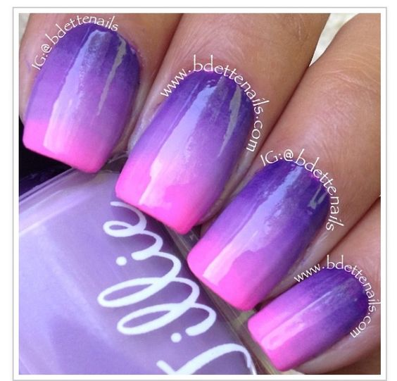 Pink and purple nails | Prom 2014 | Pinterest | Nails ...
