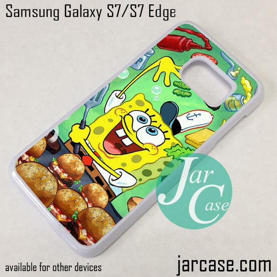 Spongebob Craby Patty Phone Case for Samsung Galaxy S7 & S7 Edge
