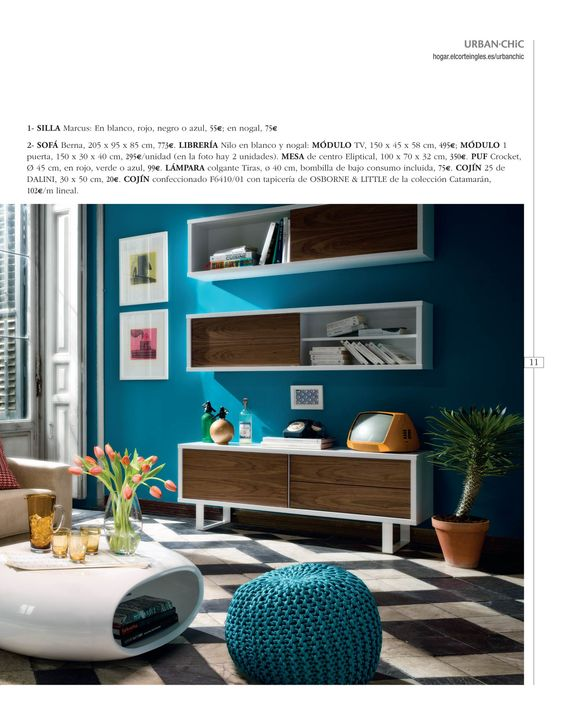 Tvs urban chic and colors on pinterest - Muebles urban chic ...