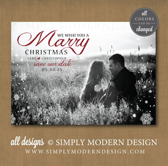 save the date christmas card marry christmas save our date card – Save the Date Wedding Ecards