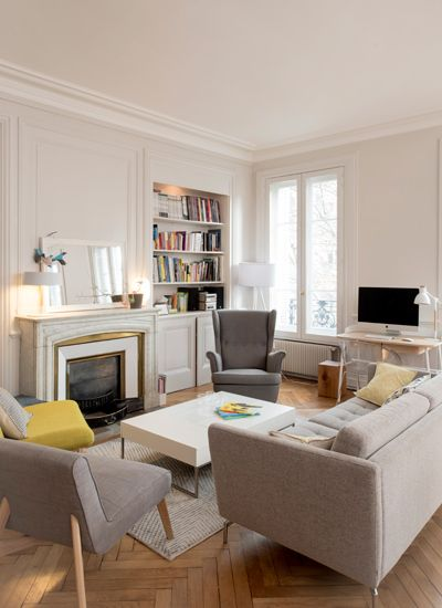 Un appartement traversant marion lano architecte d - Salon parisien ...