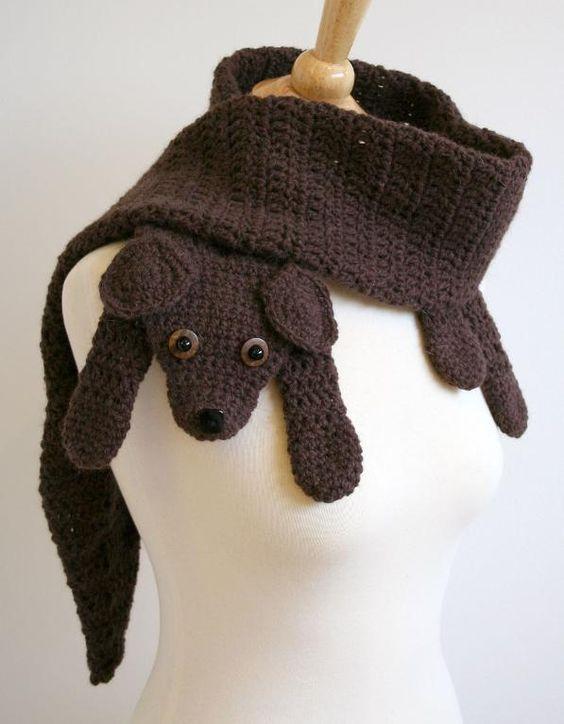 Puppy Love Scarf Crochet Pattern