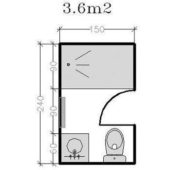 Plan pour salle d 39 eau et petite salle de bains de 2 5m for Salle de bain 6m2 sans fenetre