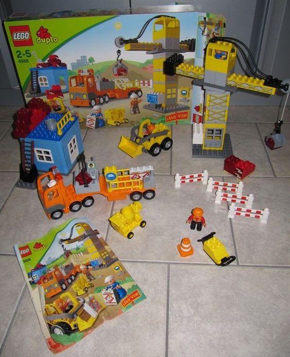 LEGO duplo 4988 Groß Baustelle / Construction Site in OVP Kran Bagger LKW + in Spielzeug, LEGO   eBay
