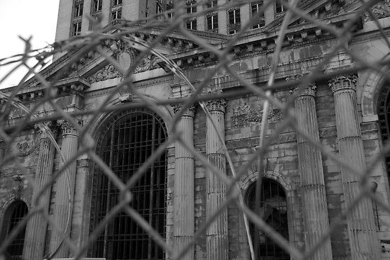 Michigan Central Station, Detroit, MI.  Postcards, prints, greeting cards available.