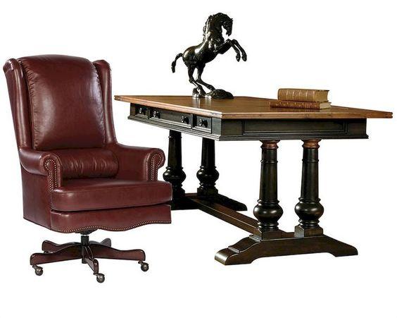 Office Set w/ Trestle Desk Tuscan Estates by Hekman HE-72340-SET